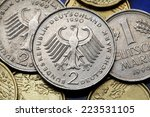 Coins Of Germany. German Eagle...