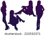 silhouettes fashion girl. | Shutterstock .eps vector #223532371