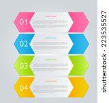 infographics template for... | Shutterstock .eps vector #223535527