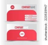 business card design set...   Shutterstock .eps vector #223535947