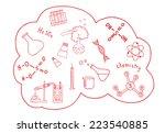 set of doodle chemistry...