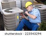 air conditioning repairman at... | Shutterstock . vector #223543294