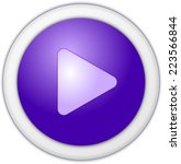 play button purple circle | Shutterstock . vector #223566844
