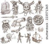 pirates  buccaneers and sailors ...   Shutterstock . vector #223571365