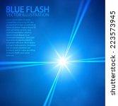blue star   spotlights. vector... | Shutterstock .eps vector #223573945