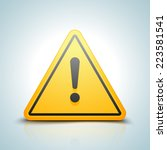exclamation danger sign | Shutterstock .eps vector #223581541