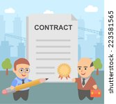 businessman contract pact... | Shutterstock .eps vector #223581565