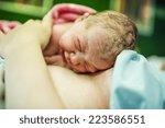 beautiful baby girl few minutes ...   Shutterstock . vector #223586551