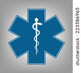 medical symbol of the emergency ... | Shutterstock .eps vector #223586965