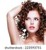 beautiful young sensual woman... | Shutterstock . vector #223593751