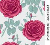 seamless vector vintage pattern ... | Shutterstock .eps vector #223595665
