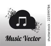 music vector over gradient ... | Shutterstock .eps vector #223599784