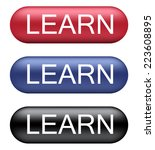 learn buttons | Shutterstock .eps vector #223608895