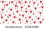 wallpaper with red hearts | Shutterstock .eps vector #22361080