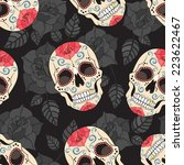 gothic seamless pattern with... | Shutterstock .eps vector #223622467