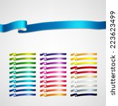 vector ribbons set | Shutterstock .eps vector #223623499