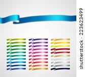 vector ribbons set | Shutterstock .eps vector #223623499