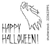 hand drawn ghost | Shutterstock .eps vector #223623991