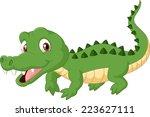 cartoon crocodile | Shutterstock .eps vector #223627111