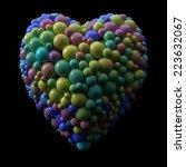 heart from  random spheres | Shutterstock . vector #223632067