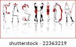 "vector ""fashion"" | Shutterstock .eps vector #22363219"