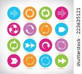 arrow buttons  arrow sign icons ... | Shutterstock .eps vector #223635121