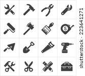 working tool and instrument... | Shutterstock .eps vector #223641271