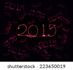 happy new year   2015 made a... | Shutterstock . vector #223650019