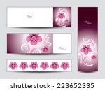 banners with flowers. | Shutterstock .eps vector #223652335