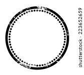 rubber stamp effect  blank... | Shutterstock .eps vector #223652659