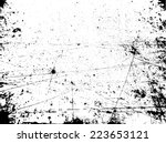 grunge black and white distress ... | Shutterstock .eps vector #223653121