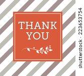 thanksgiving card. vector... | Shutterstock .eps vector #223653754