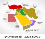 middle east map concept... | Shutterstock .eps vector #223656919