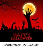 halloween background with... | Shutterstock .eps vector #223666339