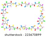 illustration of a chain of... | Shutterstock . vector #223670899