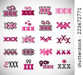xxx icons set   isolated on...