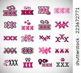 xxx icons set   isolated on...