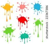 paint splatter | Shutterstock .eps vector #22367386