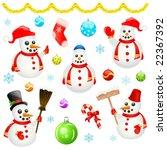 christmas design element vector   Shutterstock .eps vector #22367392