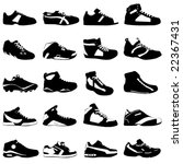 fashion sport shoes vector | Shutterstock .eps vector #22367431