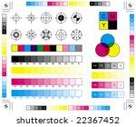 cmyk press marks | Shutterstock .eps vector #22367452