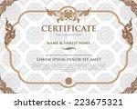 certificate design template. | Shutterstock .eps vector #223675321