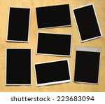 vintage photographic deckle... | Shutterstock . vector #223683094