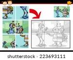 cartoon illustration of... | Shutterstock . vector #223693111