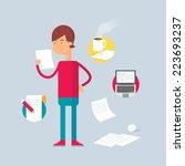 character   writer. vector... | Shutterstock .eps vector #223693237