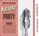 karaoke party background | Shutterstock .eps vector #223695679