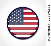 usa flag | Shutterstock .eps vector #223696831