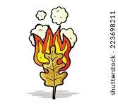 cartoon flaming leaf | Shutterstock .eps vector #223698211