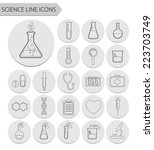 science line icons.vector | Shutterstock .eps vector #223703749