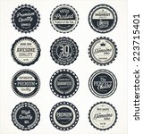 quality retro vintage badges... | Shutterstock .eps vector #223715401